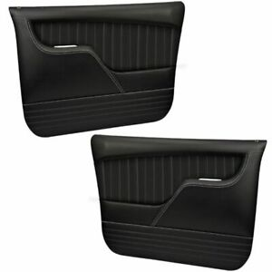 Sport Molded Door Panel Set - Black - for 1967 -72 Chevy, GMC C/10 Truck