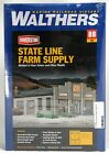 HO Scale State Line Farm Supply Kit - Walthers #933-2912