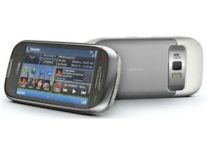 Nokia Astound C7 - Frosty metal Silver (T-Mobile) Symbian Smartphone Cell Phone