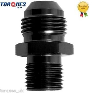 AN -10 (AN10 ) to M12x1.5 Metric Straight Adapter Black