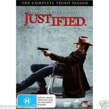 Justified : Season 3 (DVD, 3-Disc Set) NEW