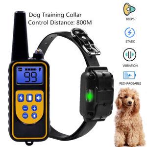 Hund Ausbildung Erziehungshalsband Fernbedienung Training Ton Vibration Schock
