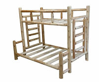 #1 Selling Rustic Cedar Log Bunk Bed - Choose Your Size - Easy Assembly