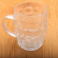 Anchor Hocking Clear Georgian Stein Handle Drinking Glass