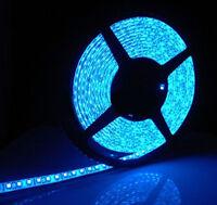 5M 3528 Waterproof LED Flexible Light Strip 12V with 300 SMD LED Blue Lights New