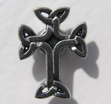 Celtic Cross Keltenkreuz Irische Kreuz Gothik Druckknopf Knopf Snap Metall