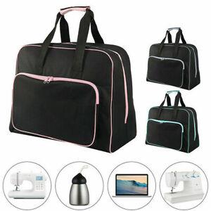 Home Sewing Machine Storage Bag Large Gym Travel Waterproof Handbag Black Tote