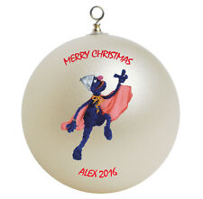 Personalized Sesame Street Super Grover Christmas Ornament Gift Add Childs Name