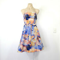 CHARLIE BROWN Size 8 Dress Fit & Flare Strapless Races Wedding Party EUC