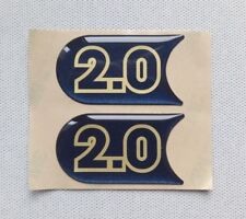 NEUF 2X STICKERS 2.0 WILLIAMS SUPPORTS CLIGNOTANTS AUTOCOLLANTS CLIO RENAULT NEW