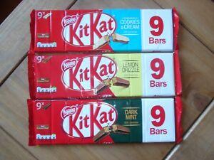 Nestle Kitkat Limited Edition Dark Mint, Lemon Drizzle Brand New SHIPS WORLDWIDE