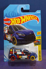 HOT WHEELS FORD TRANSIT CONNECT - New 2018 HW ART CARS Series No. 7/10 Long Card
