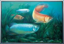 Drachenfische Unterwasserwelt Ölmalerei Leinwand 60 x 90cm Lars Nielsen Dänemark