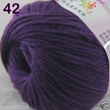 1 Skein X50g Baby Cashmere Silk Wool Children Hand Knitting Crochet Yarn 42