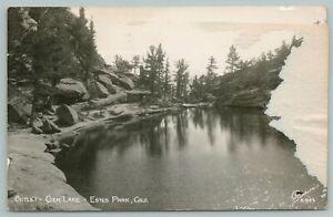 Estes Park Colorado~Outlet Of Gem Lake~Real Photo Postcard~RPPC