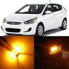 Alla Lighting Front Turn Signal Lights 2357NA Amber LED Bulbs for Hyundai Accent