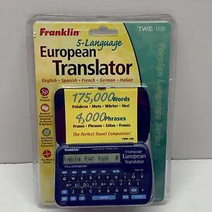 TWE-106 5 Language European Translator Spanish French German Italian