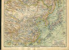 """Landkarte """"China und Japan"""" - Von 1895    (J-BE2)"""