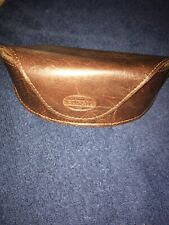 Fossil: Brown Leather Eyeglasses /Sunglasses Magnetic Case