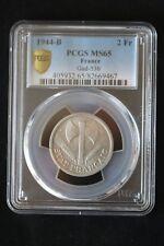 2 Francs Alu Bazor 1944 B ; PCGS : MS 65 ; FDC