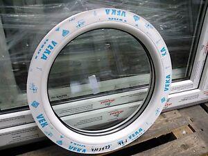 PVC Rundfenster VEKA Festelement Aussendurchmesser 500 mm - 900 mm