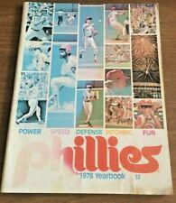 1978 Baseball Yearbook PHILADELPHIA PHILLIES Mike Schmidt Carlton Maddox McGraw