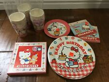vintage Sanrio Hello Kitty party supplies from 1980s