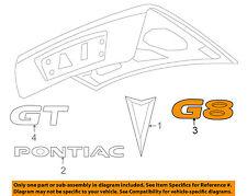 Pontiac GM OEM 08-09 G8 Trunk Lid-Emblem Badge Nameplate 92205488