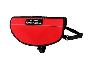 Dog Emotional Support ESA Vest Harness Adjustable Canine Reflective Light  XS-XL