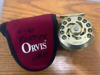 """""""RARE"""" Orvis Vortex 5/6 Fly Fishing Reel Gold Preowned Made in USA w/Case LQQK !"""