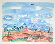 Bernard BUFFET - Estampe originale -Lithographie - Hommage à Dufy : Au Maroc