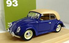 Rio 1/43 Scale 93 Volkswagen Maggiolino Cabriolet 1949 Blue diecast model car