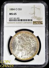 1884-O $1 Morgan Silver Dollar NGC MS 65 GEM Toned Uncirculated BU New Orleans
