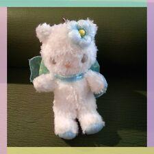 Sanrio Momoberry Hello Kitty White Fairy Keyring Mini Plush Rare Limited