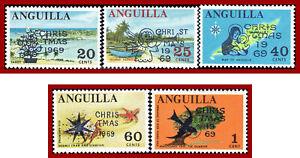 Anguilla 1969 Christmas Scott 78-82, SG 63-67, Mi 78-82, YT 47-51  set, MNH