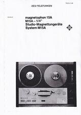 Service Manual-Anleitung für Telefunken Magnetophon M 15 A, M15A-1/4,(500 pages)