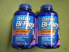 2 X 200 Osteo Bi-Flex TRIPLE STRENGTH Glucosamine MSM with Vitamin D3 - 09/2018