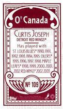 2003-04 Topps C55 Minis O Canada Red #109 Curtis Joseph