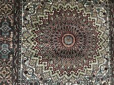"Beautiful Hand made 100% silk Rug 37"" x 60""  Excellent Condition"