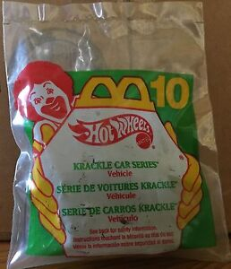 Hot Wheels Krackle Paint Series Car #10 New in Bag 1995 McDonalds Happy Meal