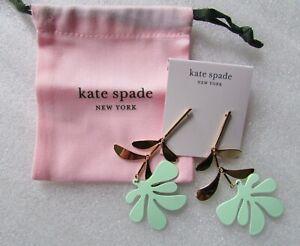 Kate Spade New York Earrings Linear Botanical Garden White or Green New $98