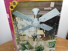 """Vtg 1970's Evergo 36"""" Decorative Ceiling Fan *New* Tested & Complete"""