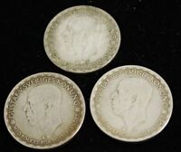 1945-1946 - Gustaf V- LOT OF 3 SWEDEN COINS - 1 Krona - XF Silver - SUPER DEAL
