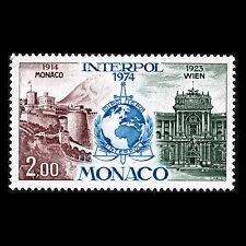 Monaco 1974 - 50th Anniversary of Interpol Architecture - Sc 913 MNH