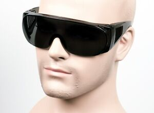 Large Will Fit Over Most Rx Safety Glasses Shield Sunglasses Dark Smoke/Gray 101