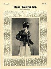 Neue Pelzmoden Irbitfuchs tibetanischer Fuchs Historische Mode d.Kaiserzeit 1901