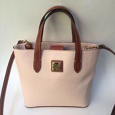 Dooney & Bourke Pale Pink Leather Handbag Small Purse Convertible Crossbody Bag