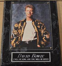 #1 Fan David Bowie Framed 8 X 10 Photo-Man Cave Art-12X15 Wall Plaque Display