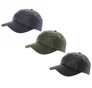 Waxed Cotton Baseball Cap One Size Adjustable Navy/Olive/Black
