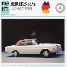 1969-1971 MERCEDES BENZ 280SE 3.5L Classic Car Photograph / Info Maxi Card